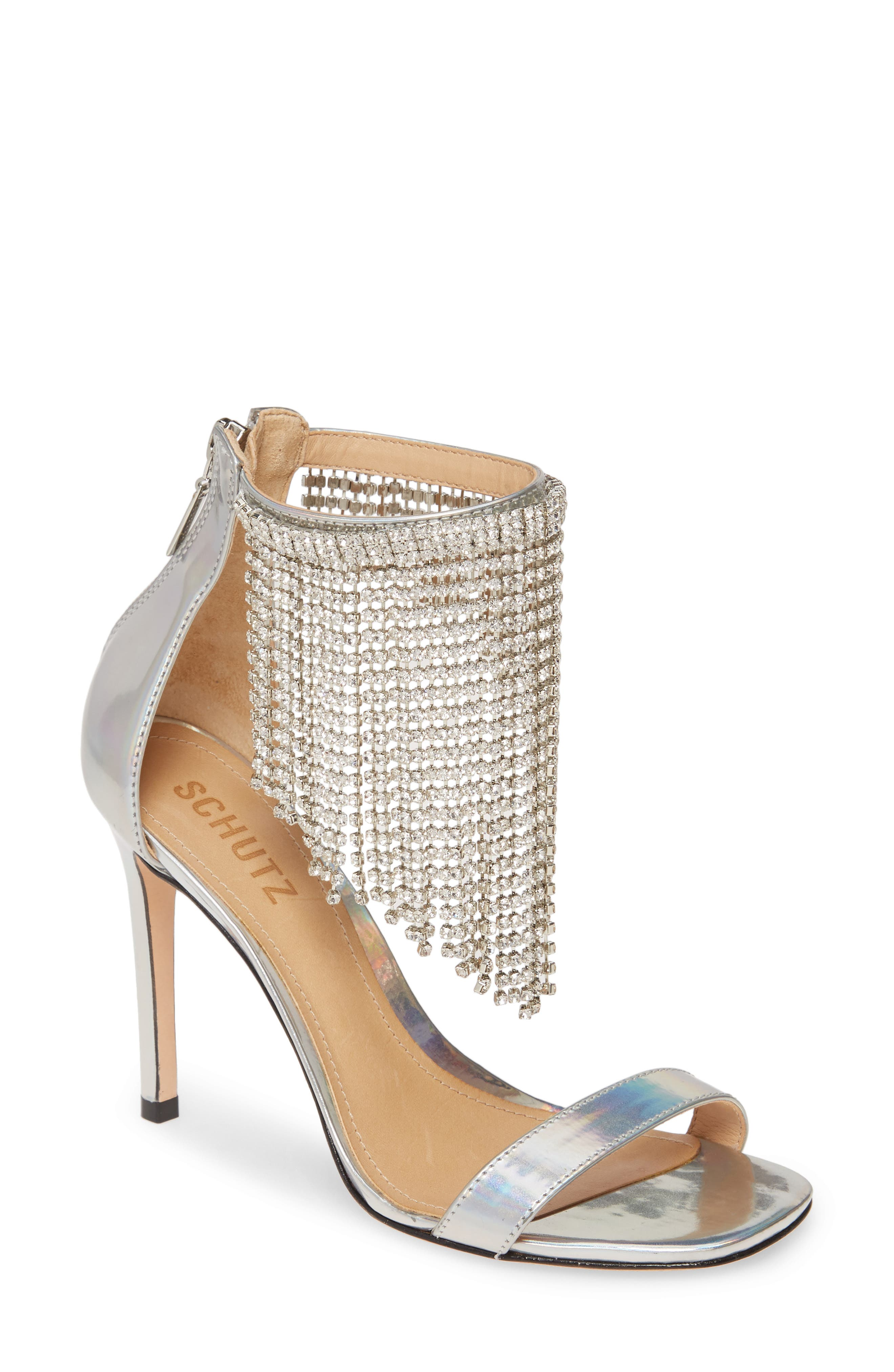 Schutz Lory Crystal Fringe Sandal (Women)