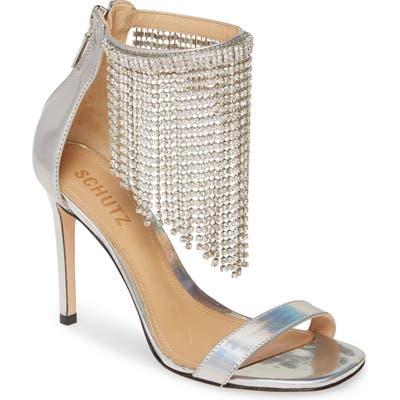 Schutz Lory Crystal Fringe Sandal
