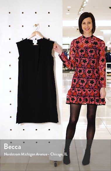 Plissé Trim Sleeveless Crepe Dress, sales video thumbnail