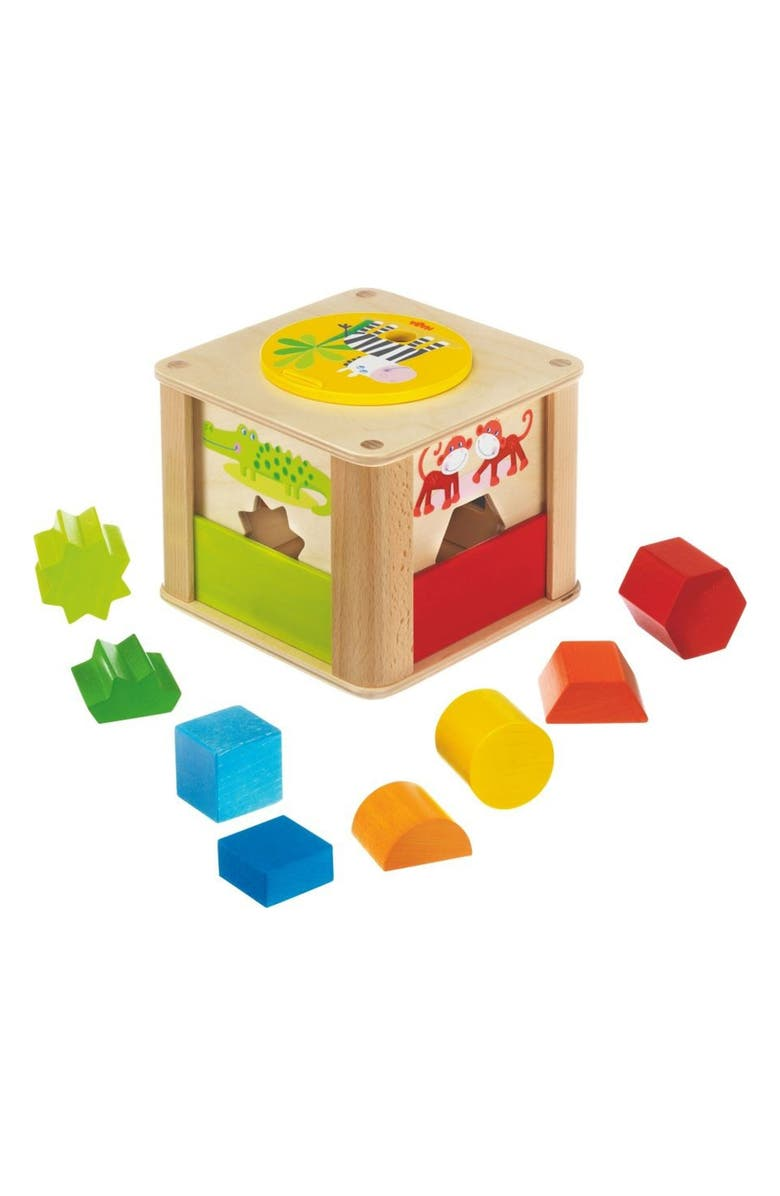 HABA Zookeeper Sorting Box Set, Main, color, YELLOW/ GREEN/ RED AND BLUE