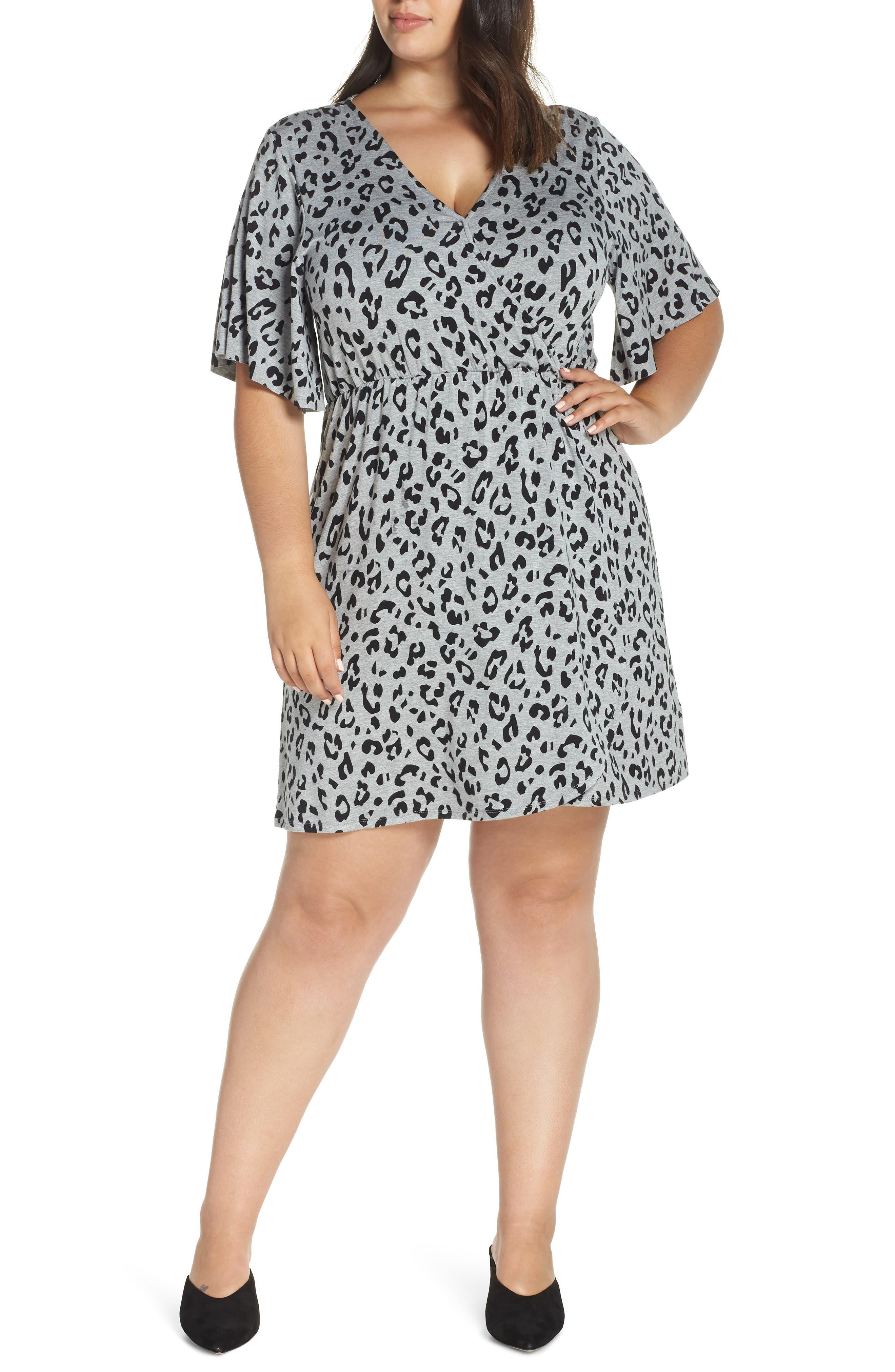 Plus Size Lemon Tart Carson Dress, Grey