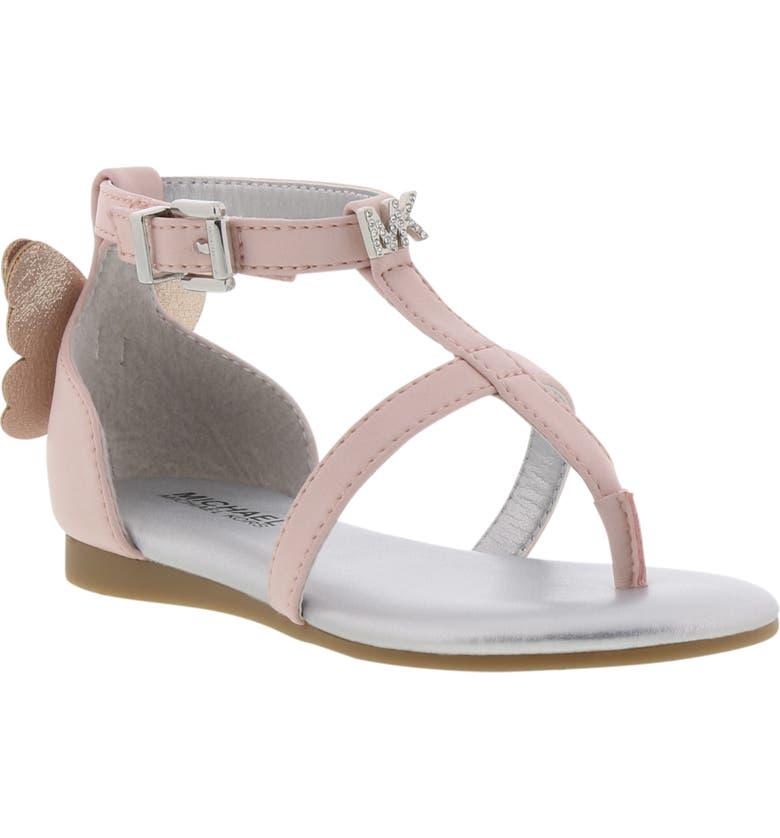 MICHAEL MICHAEL KORS Tilly Sansa Glitter Sandal, Main, color, BLUSH