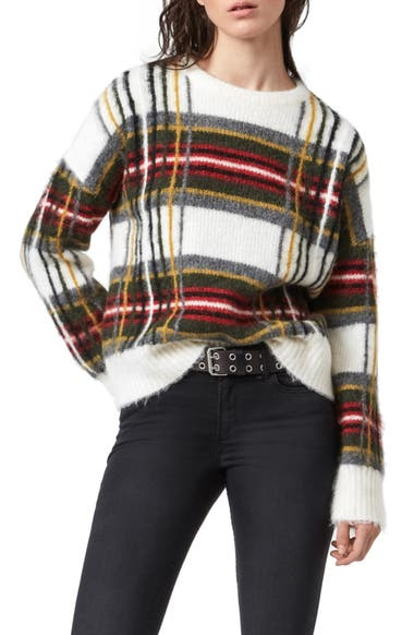ALLSAINTS Side Check Sweater | Nordstrom