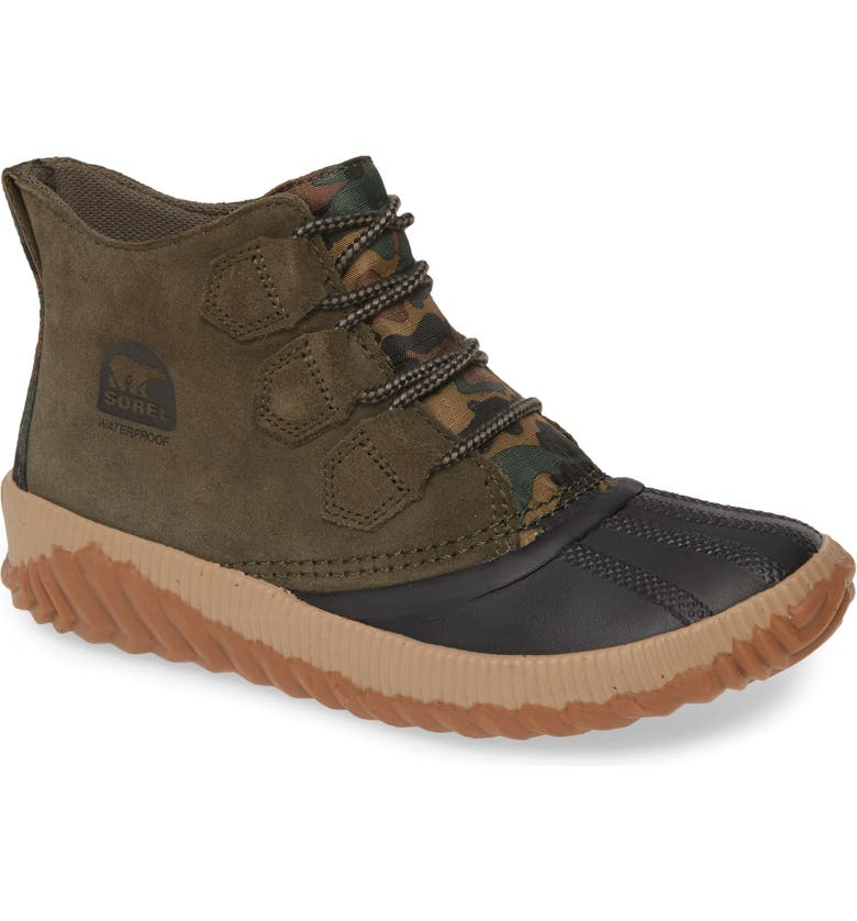 SOREL Out N About Plus Waterproof Bootie, Main, color, ALPINE TUNDRA LEATHER