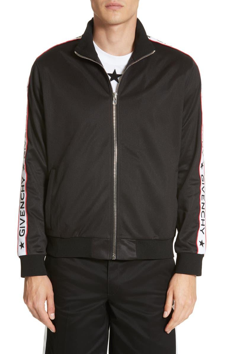 GIVENCHY Track Jacket, Main, color, 001