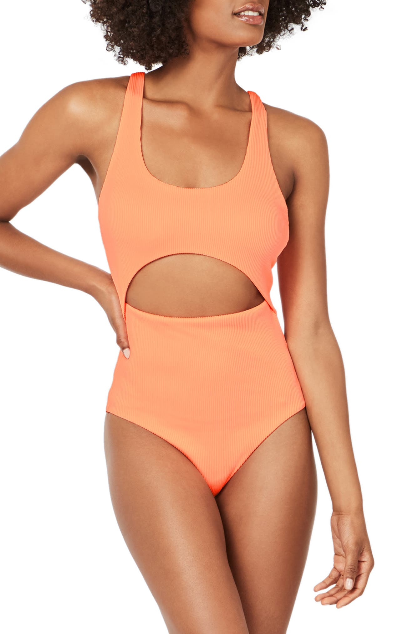 Vintage Bathing Suits | Retro Swimwear | Vintage Swimsuits Womens Sweaty Betty Retro Cutout One-Piece Swimsuit $120.00 AT vintagedancer.com