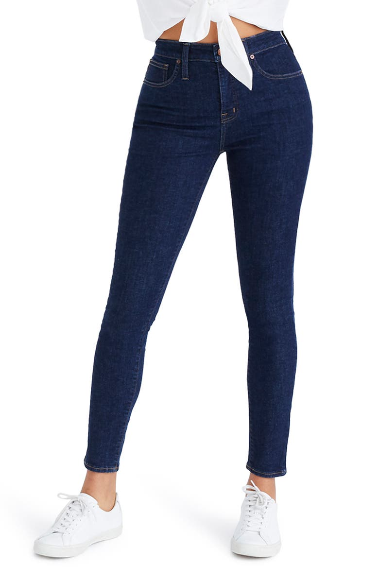 MADEWELL Curvy High Waist Skinny Jeans, Main, color, 400
