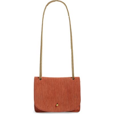 Madewell The Chain Corded Leather Crossbody Bag - Brown