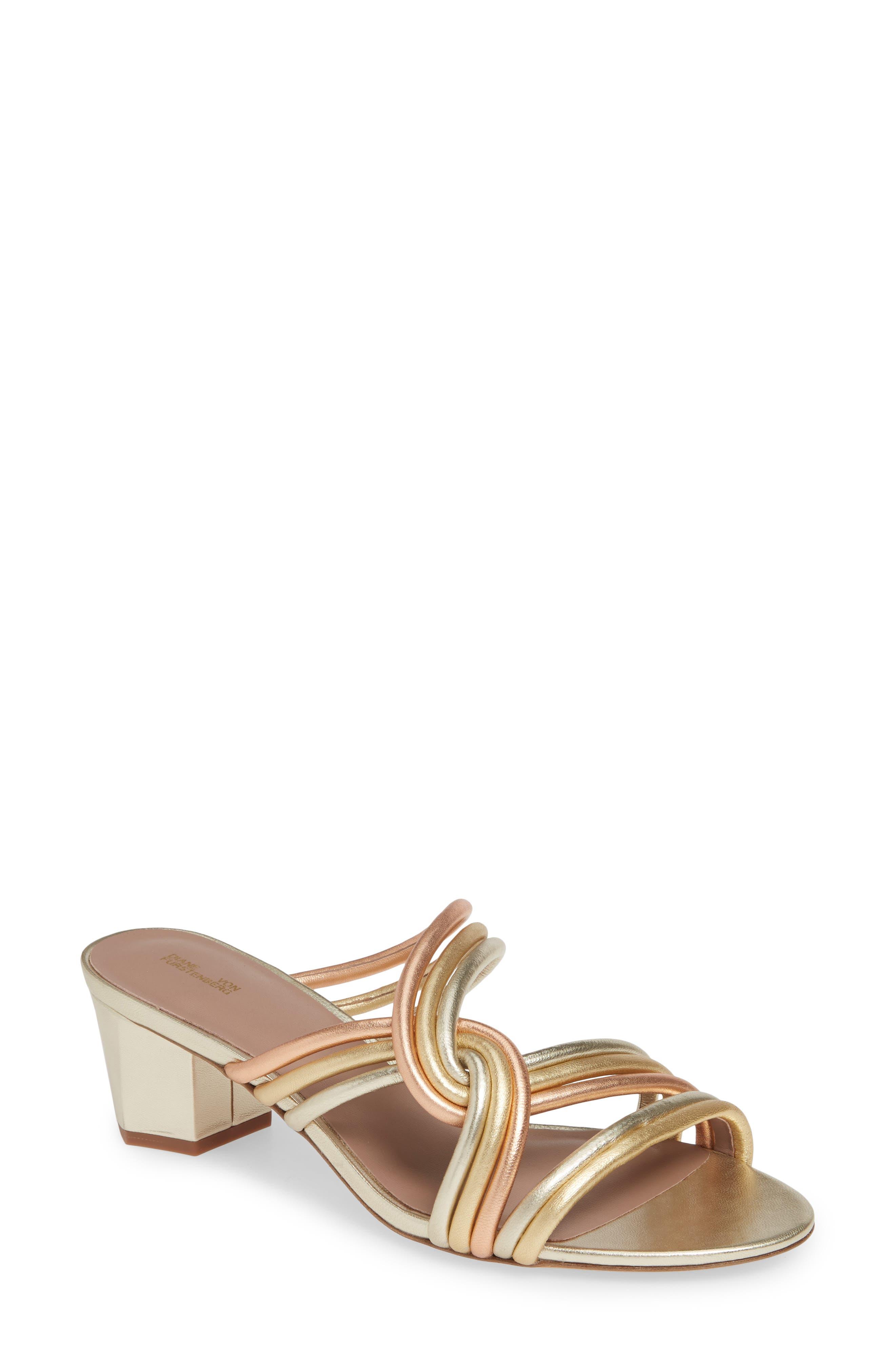 Diane Von Furstenberg Jada Sandal, Metallic