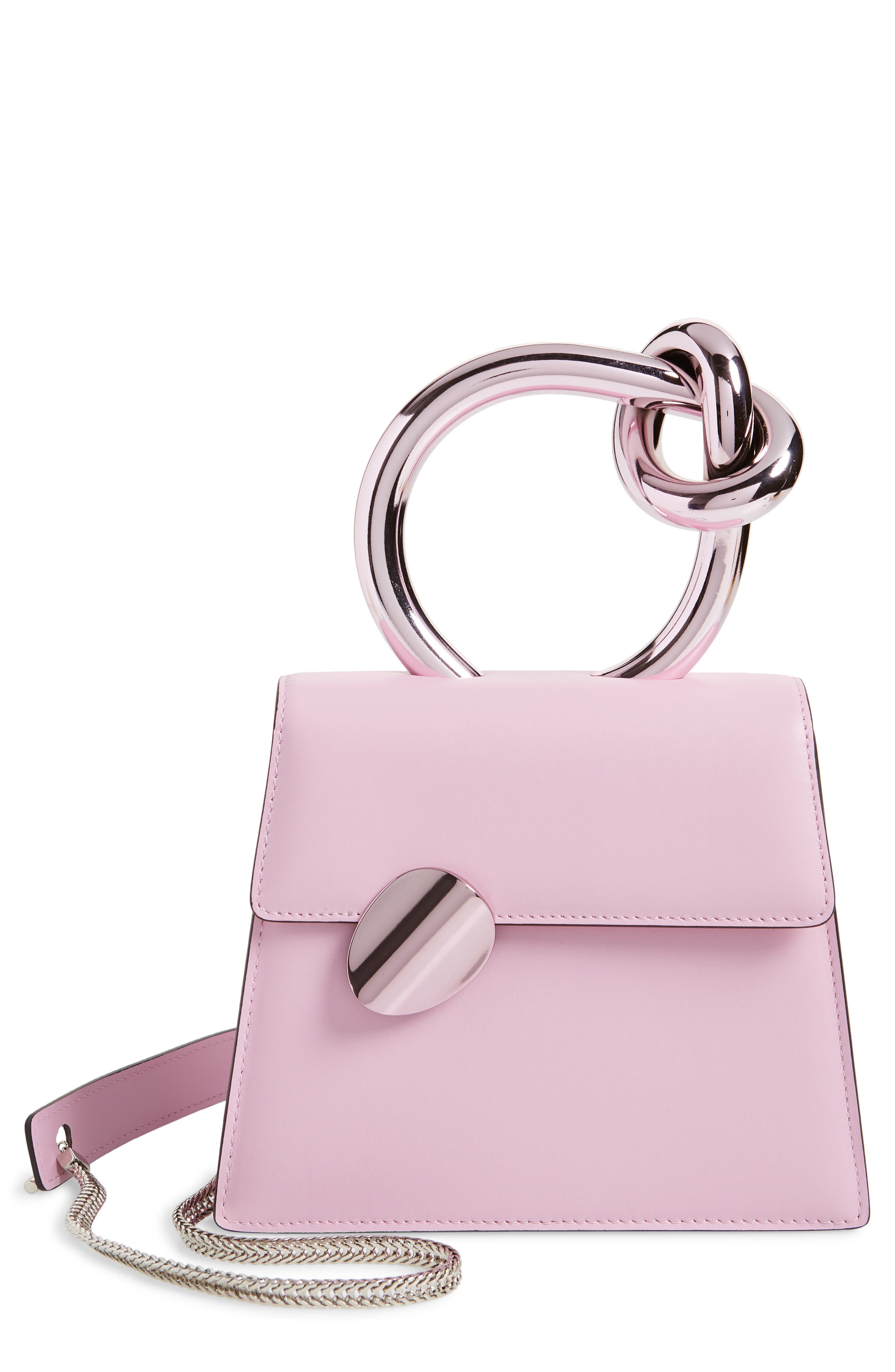 Bb Leather Top Handle Bag