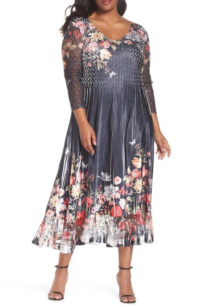 KOMAROV Charmeuse Chiffon A-Line Dress, Main, color, 407