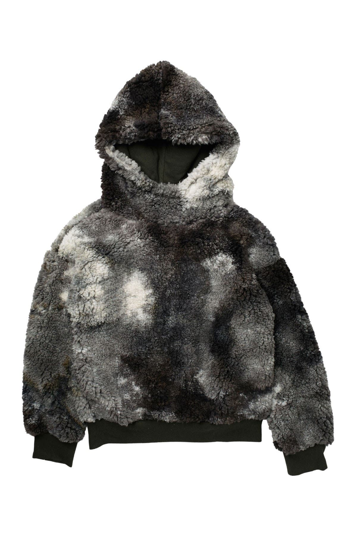 Image of Z by Zella Girl Faux Shearling Tie Dye Hoodie