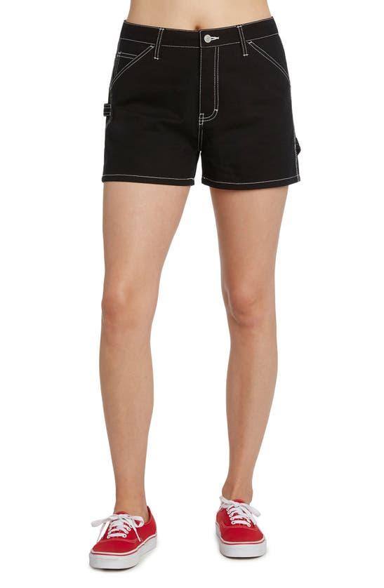Dickies Juniors' Cotton Carpenter Shorts In Black