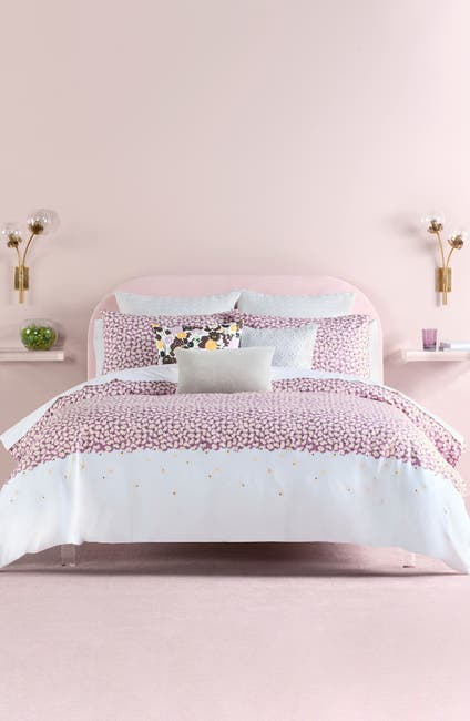 Image of kate spade new york lavender carnation twin duvet cover set