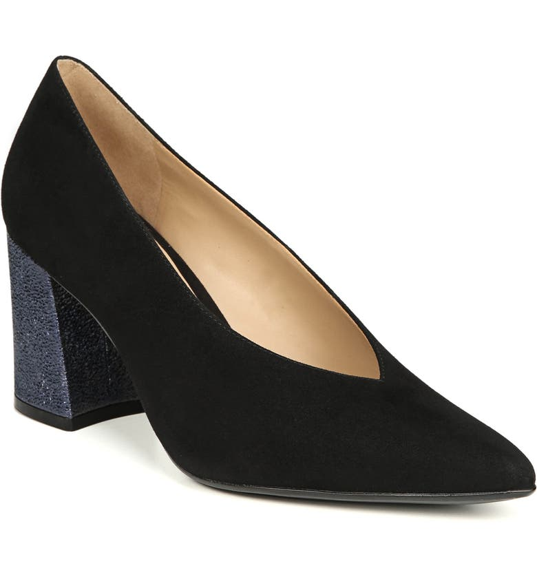 NATURALIZER Hope Pointy Toe Pump, Main, color, BLACK SUEDE