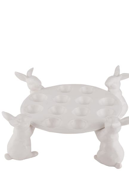 Image of Transpac Elegant Bunny Dozen Egg Holder