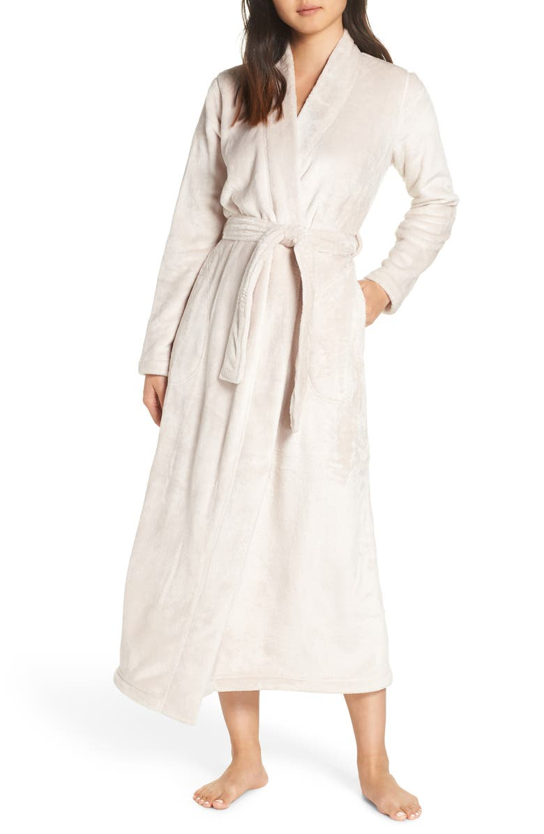 UGG<SUP>®</SUP> Marlow Double-Face Fleece Robe, Main, color, MOONBEAM