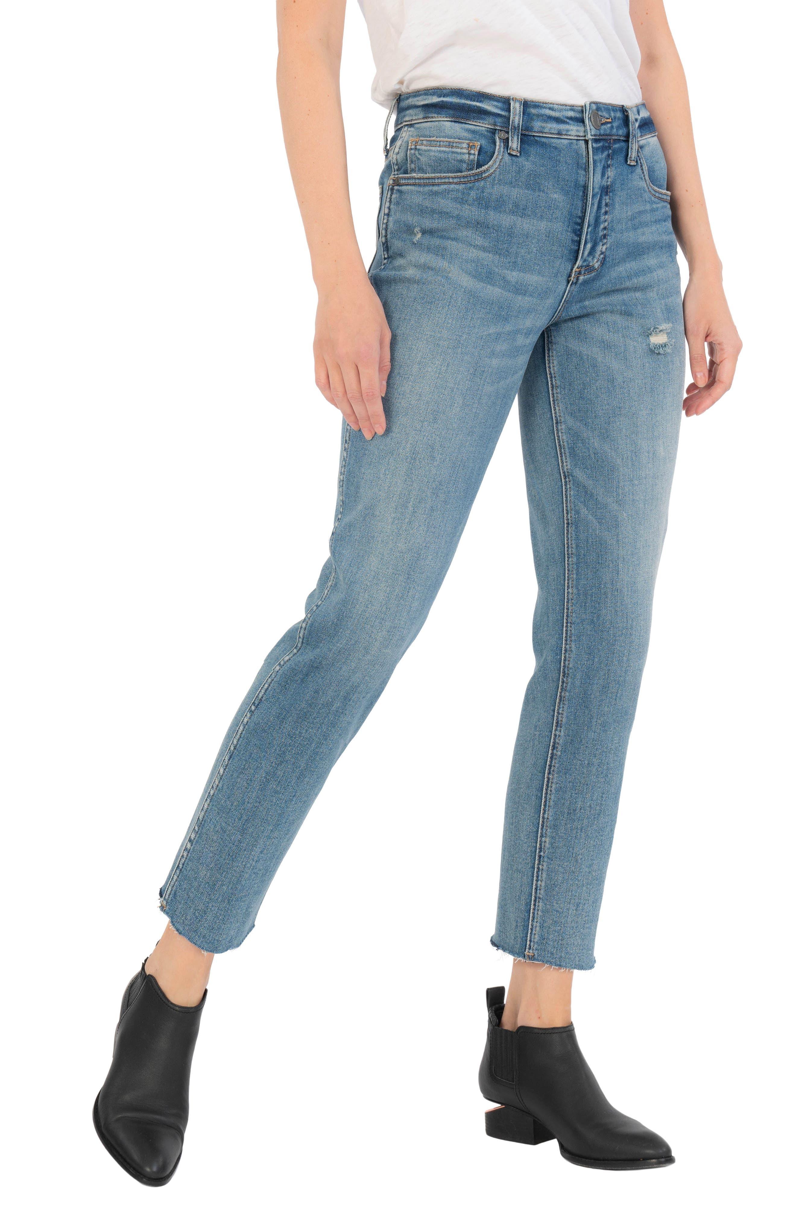 Rachael High Waist Crop Mom Jeans