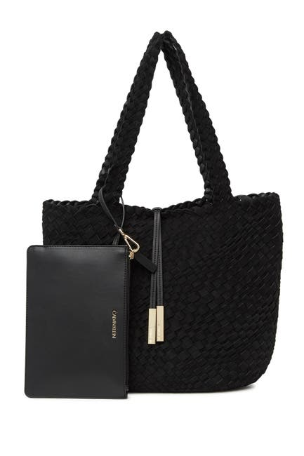 Image of Calvin Klein Naomi Woven North/South Novelty Tote