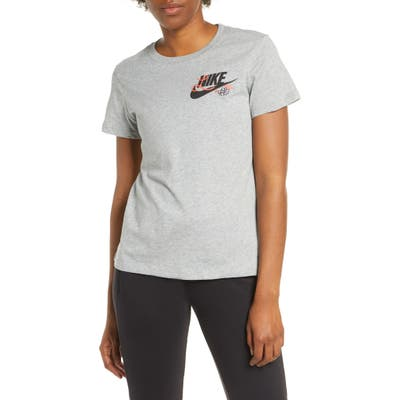 Nike Embroidered Logo T-Shirt, Grey