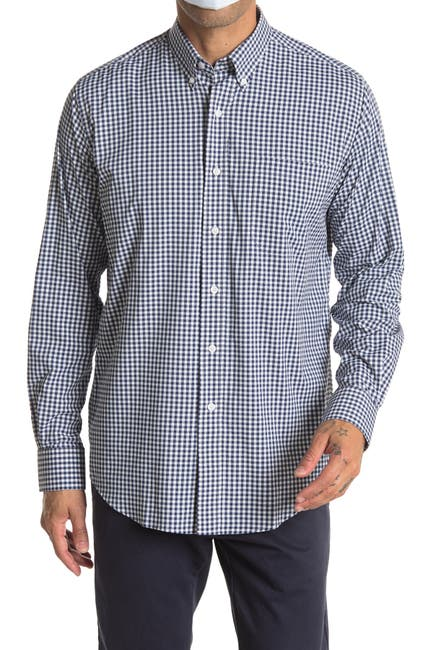 Image of Oxford Howell Gingham Print Regular Fit Performance Shirt