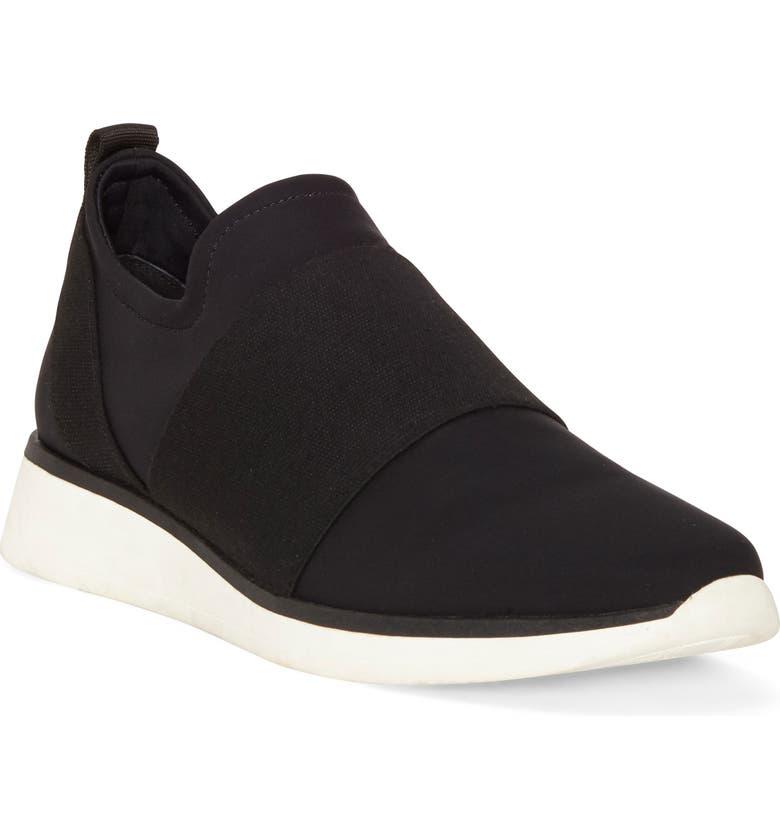 LOUISE ET CIE Braxton Sneaker, Main, color, BLACK FABRIC