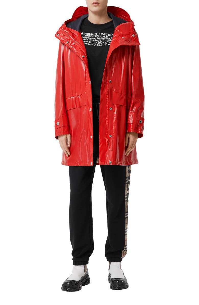 BURBERRY Cramond Raincoat, Main, color, BRIGHT RED