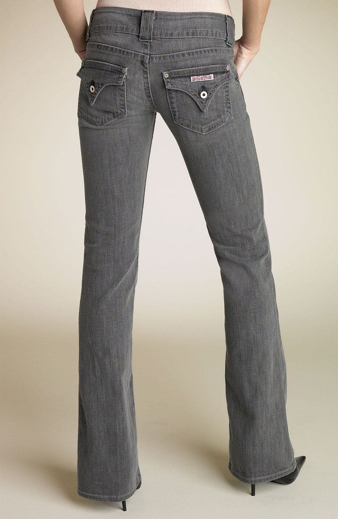 ,                             Signature Flap Pocket Bootcut Jeans,                             Alternate thumbnail 104, color,                             SMO