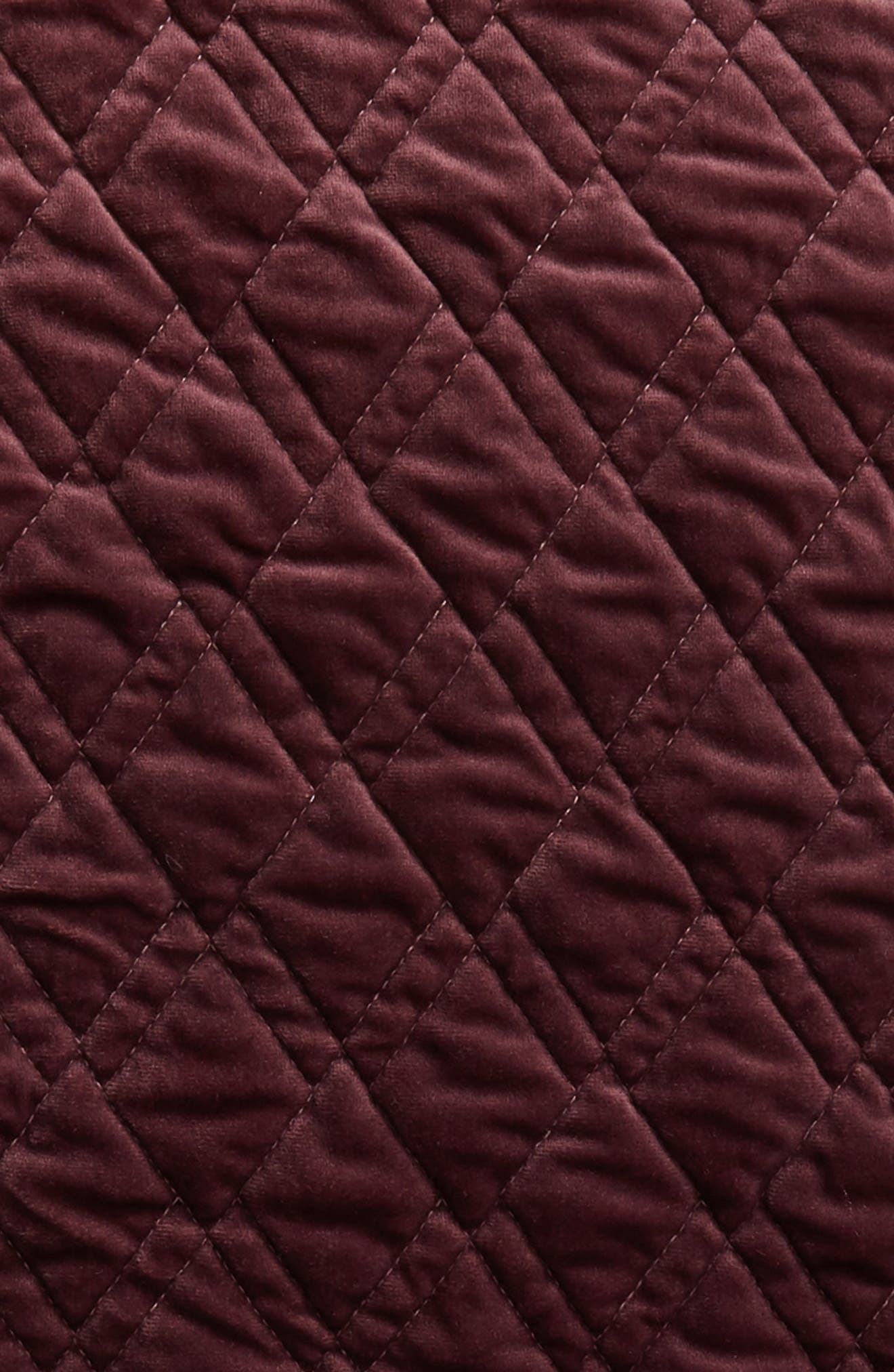 ,                             Karlina Quilted Euro Sham,                             Alternate thumbnail 3, color,                             BURGUNDY STEM