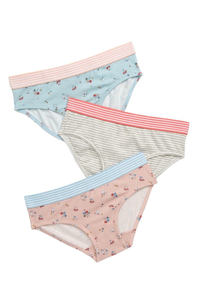 MINI BODEN 3-Pack Panties, Main, color, STAR SPRIG BLU