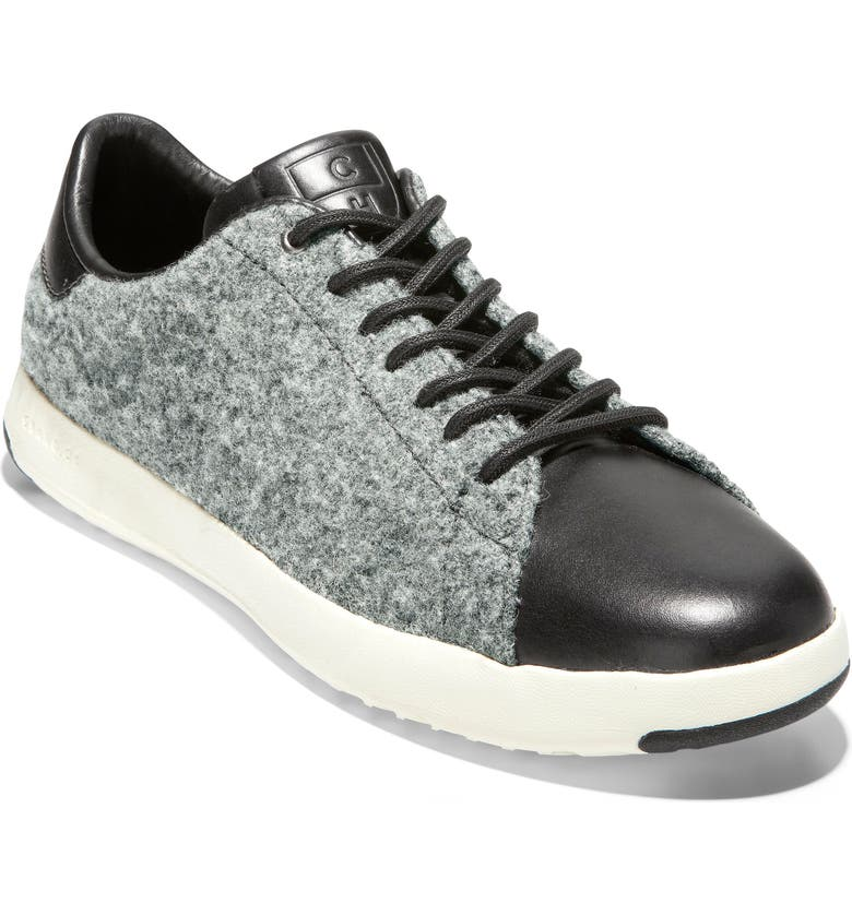 COLE HAAN GrandPro Tennis Sneaker, Main, color, GRAY WOOL / BLACK