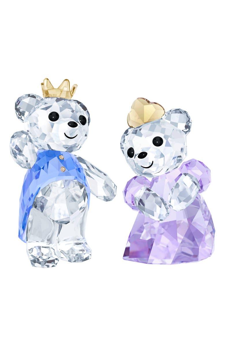 SWAROVSKI Kris Bear Prince & Princess Crystal Figurines, Main, color, CLEAR/ MULTI