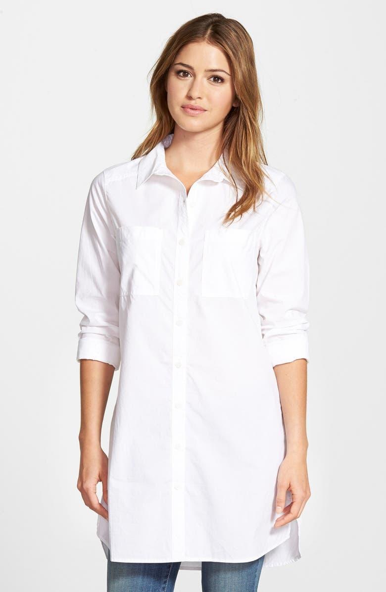 CASLON<SUP>®</SUP> Two-Pocket Tunic Shirt, Main, color, 100