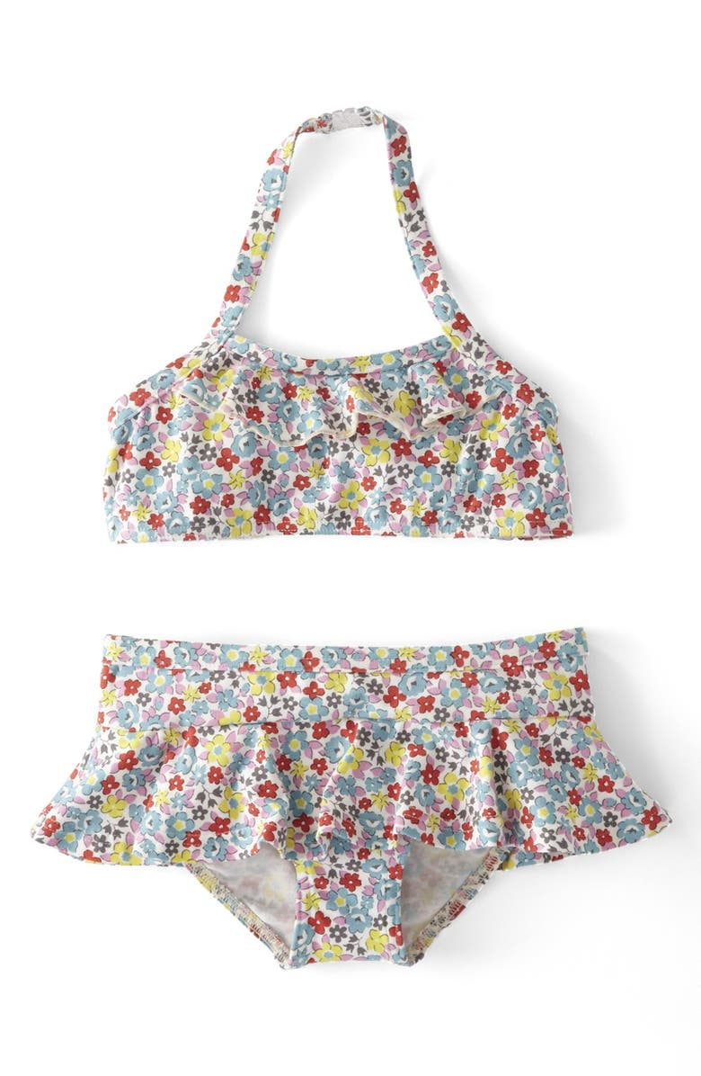 MINI BODEN 'Pretty' Two-Piece Swimsuit, Main, color, 986