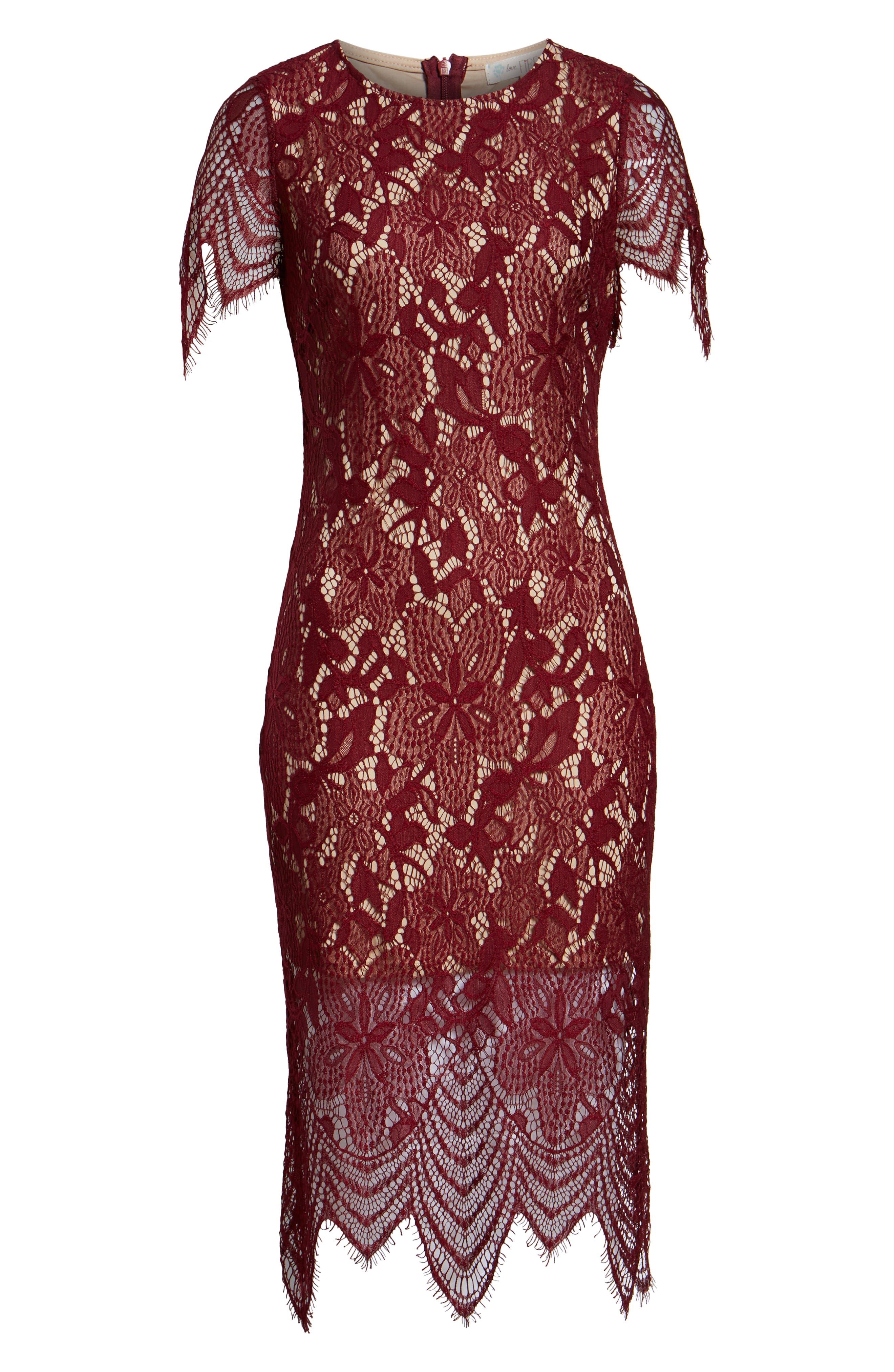 ,                             Scallop Lace Dress,                             Alternate thumbnail 15, color,                             930