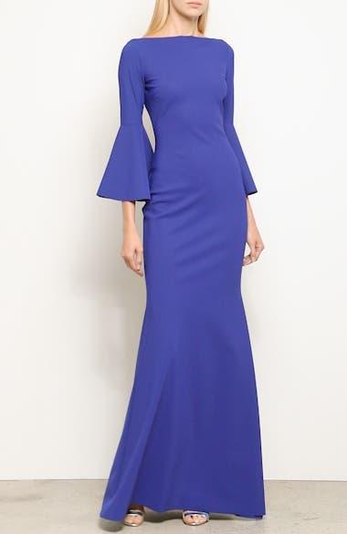 Iva Bell Sleeve Evening Dress, video thumbnail