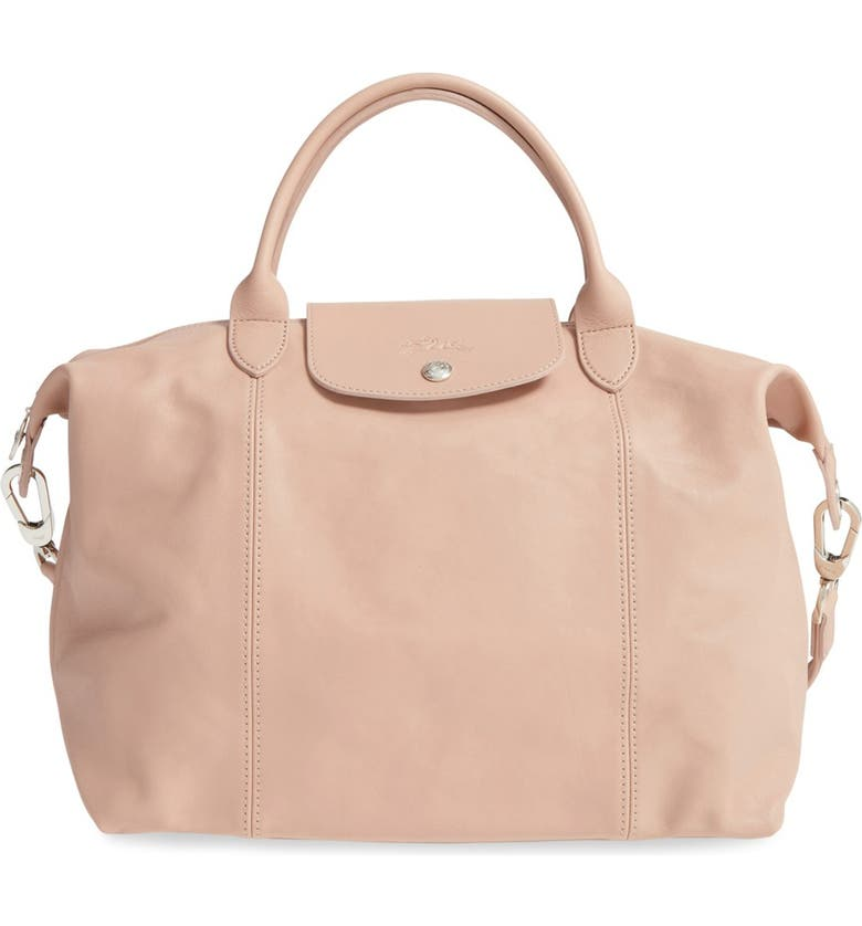 Longchamp Medium 'Le Pliage Cuir' Leather Top Handle Tote | Nordstrom