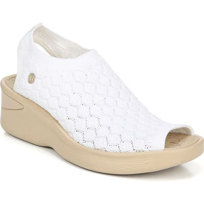 Bzees Secret Peep Toe Knit Sneaker- White