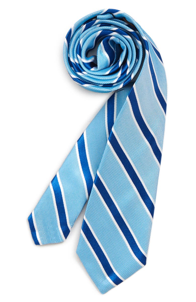 MICHAEL KORS Stripe Silk Tie, Main, color, 440