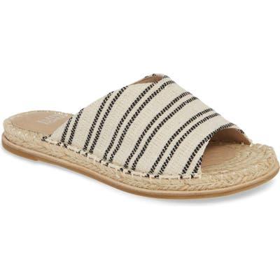 Eileen Fisher Milly Espadrille Slide Sandal- White