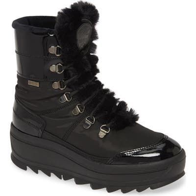 Pajar Taian Faux Fur Trim Waterproof Insulated Boot, Black