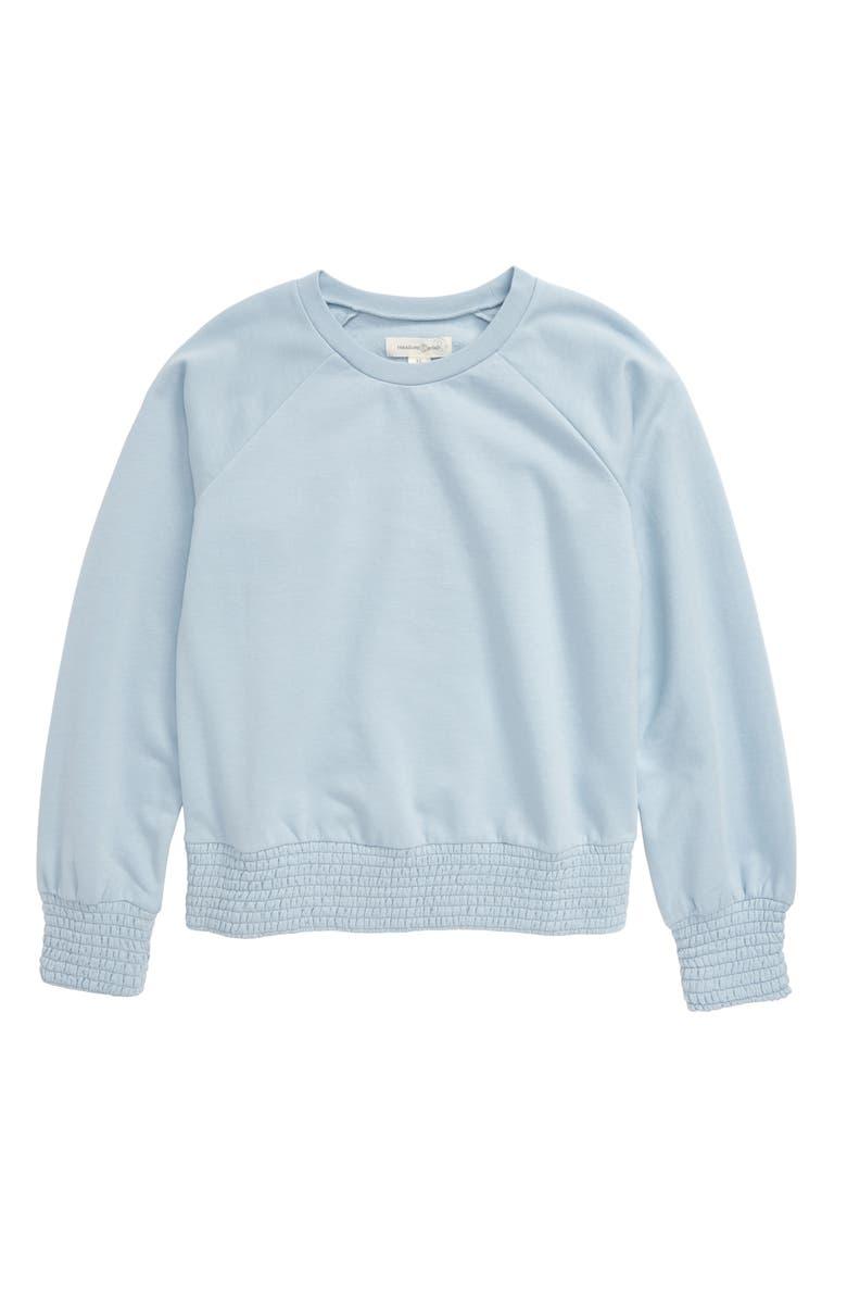 TREASURE & BOND Smock Hem Sweater, Main, color, 450