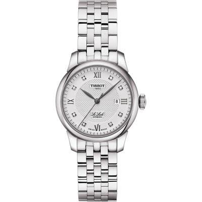 Tissot Le Locle Automatic Diamond Bracelet Watch, 2m