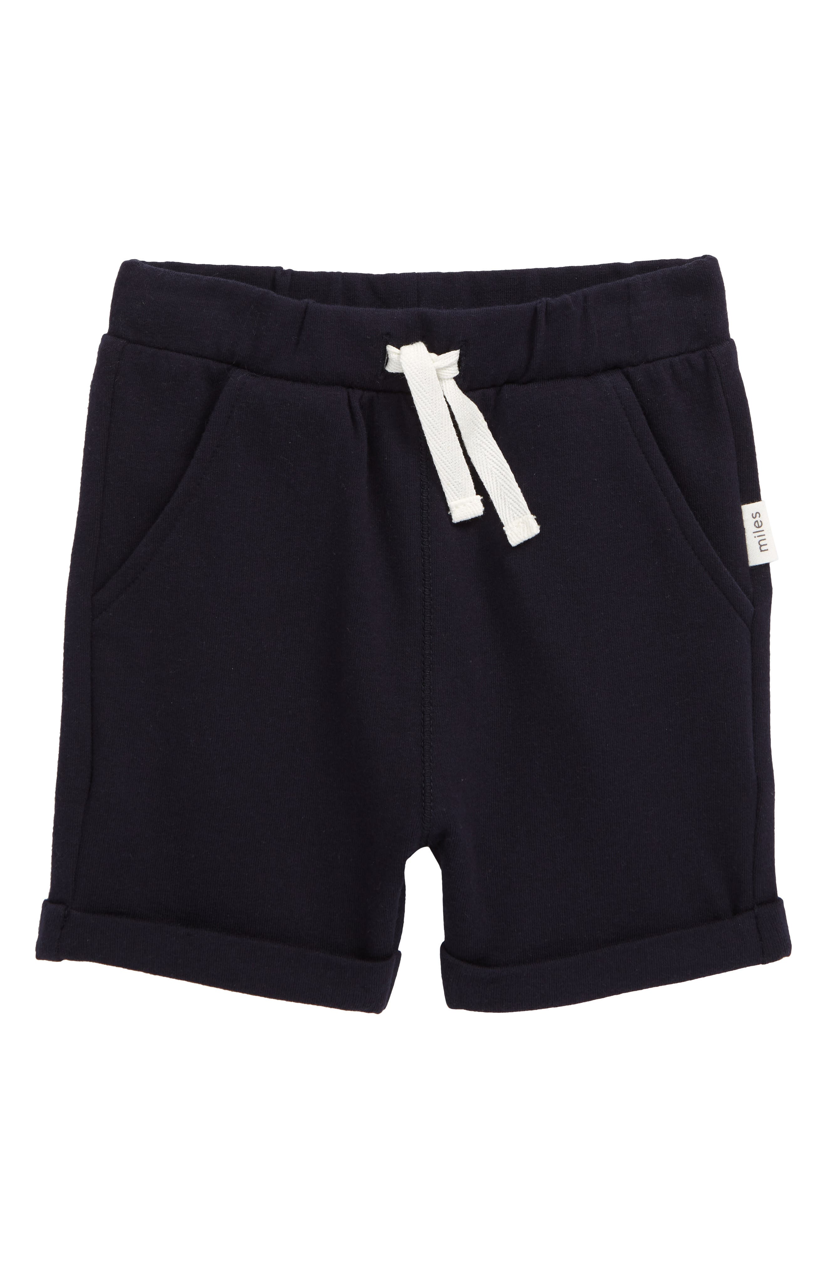 A stretchy waistband helps keep your little one comfortable in easygoing stretch-cotton shorts. Style Name: Miles Baby Knit Shorts (Baby). Style Number: 6019916 1. Available in stores.