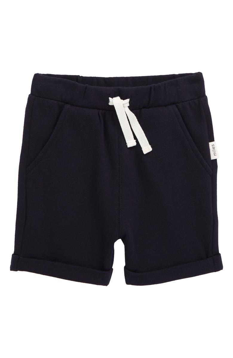 MILES baby Knit Shorts, Main, color, NAVY