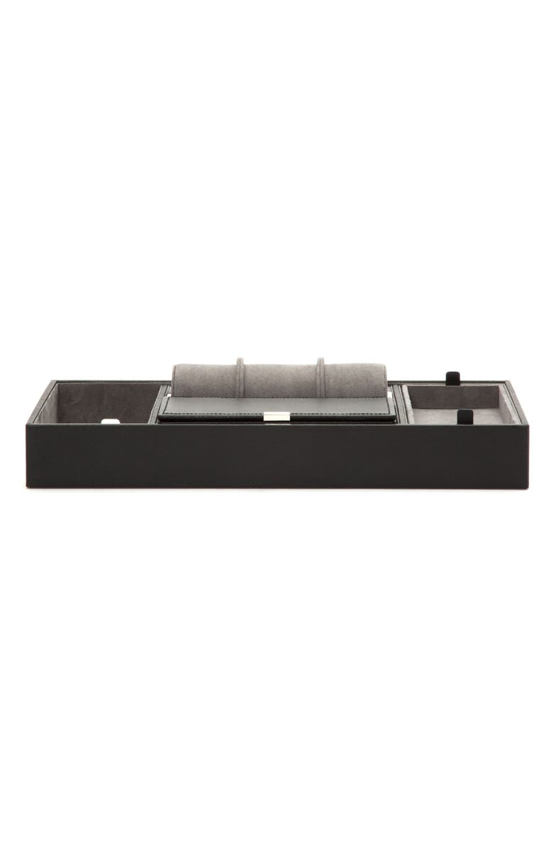 WOLF Howard Valet Jewelry Tray with Tie Roll, Main, color, 001