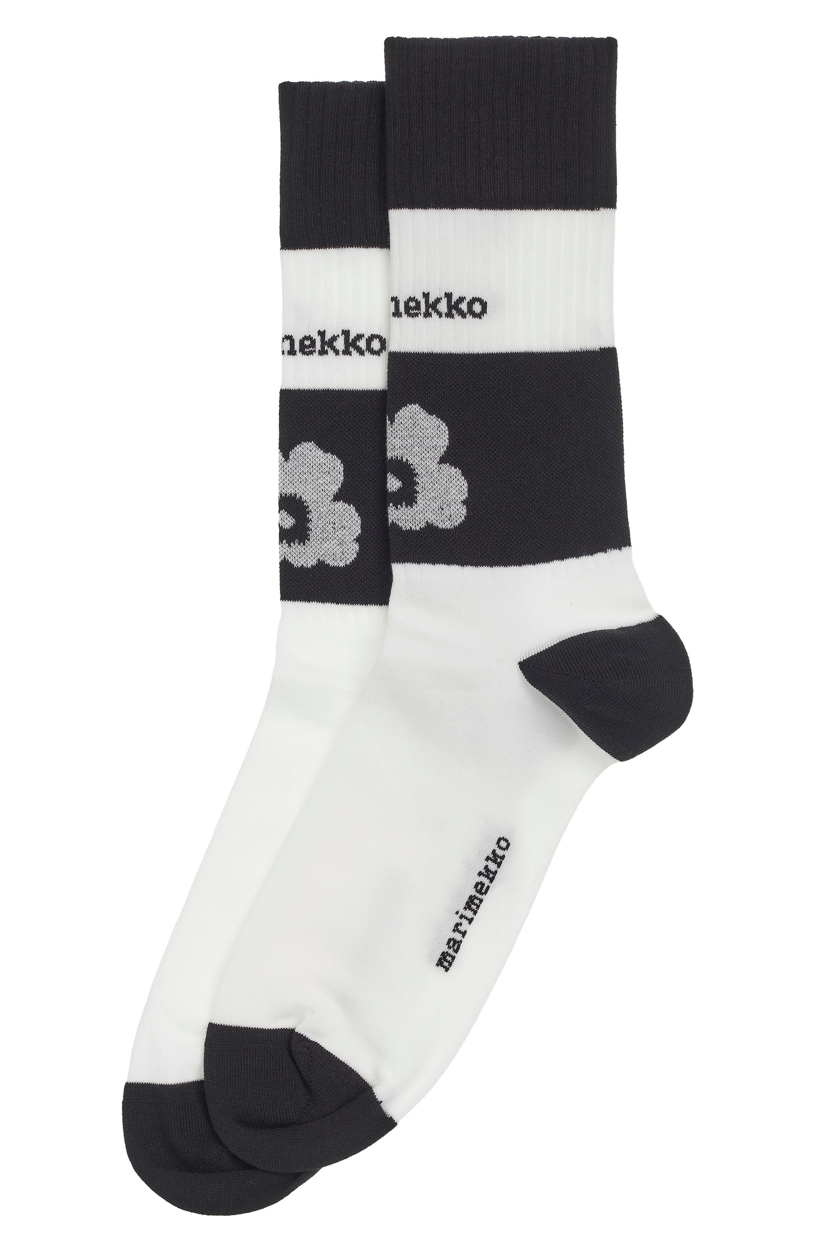 Unisex Kioski Kohina Unikko Floral Logo Socks