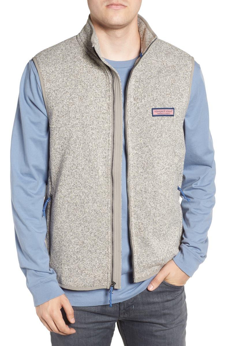VINEYARD VINES Fleece Zip Vest, Main, color, 020