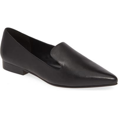Sole Society Kapa Asymmetrical Loafer- Black