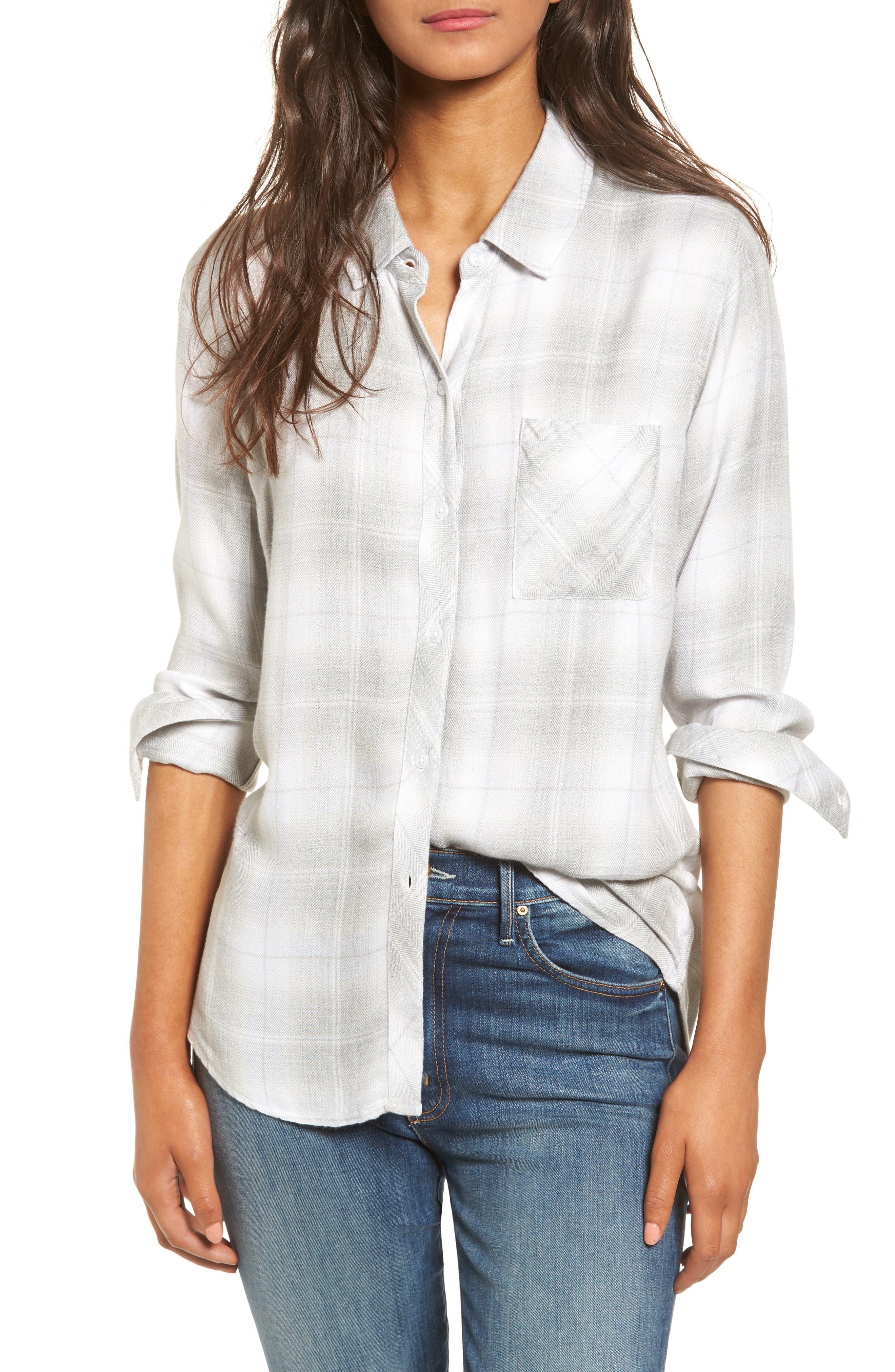 ,                             Hunter Plaid Shirt,                             Main thumbnail 555, color,                             063
